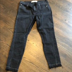 Gap True Skinny Ankle Jeans Black